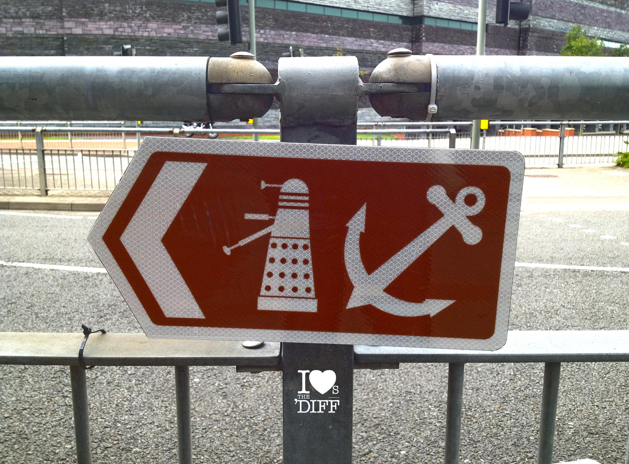 Blog Dalek Sign Cardiff Bay