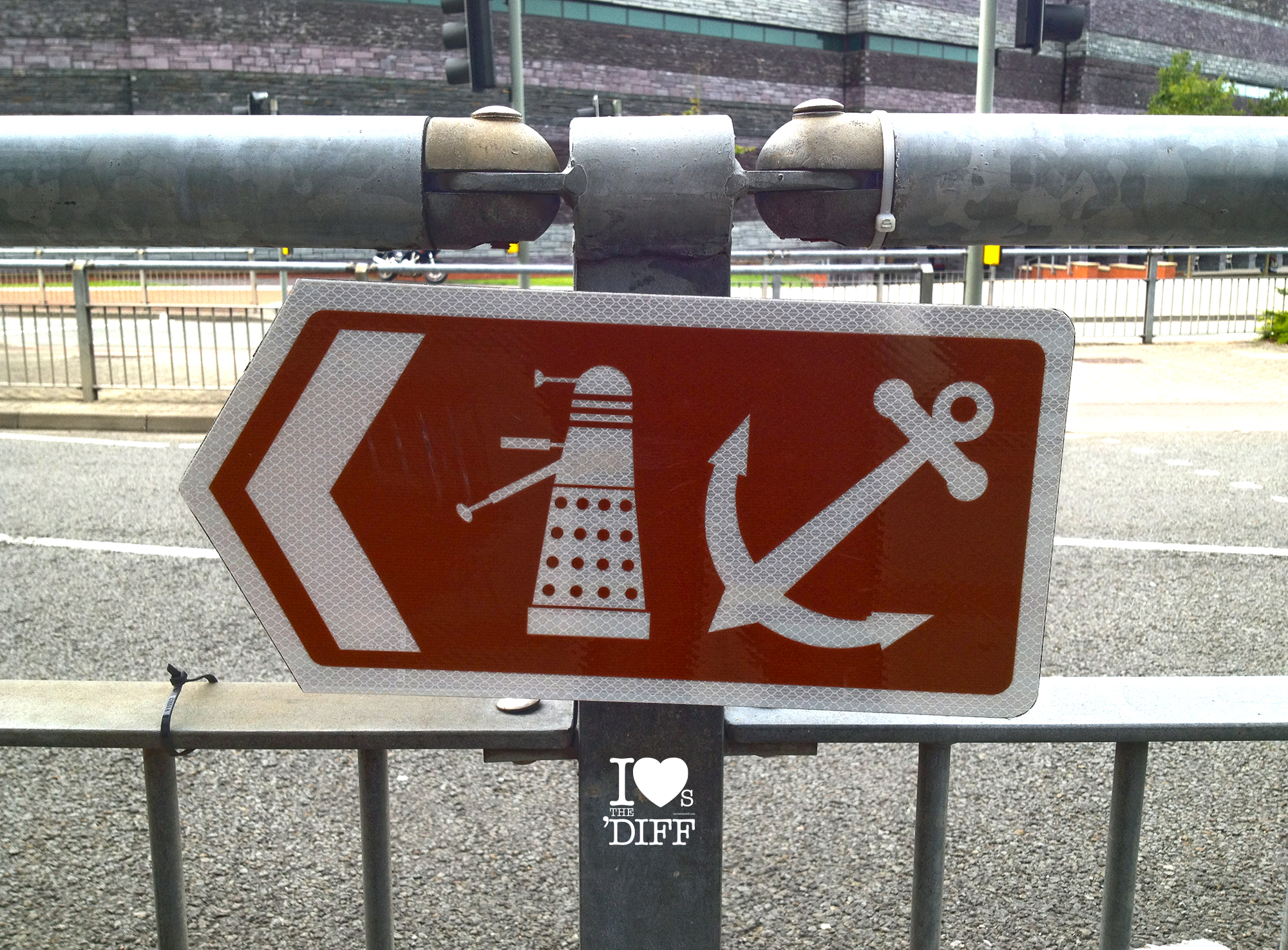 Blog Dalek Sign Cardiff Bay
